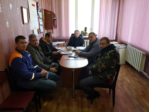 Meeting with the inspector of the Gospromnadzor